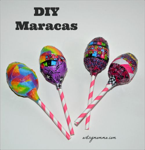Looking for a way to recycle all those plastic Easter eggs? Turn them into homemade maracas - perfect for a Cinco de Mayo kids craft!