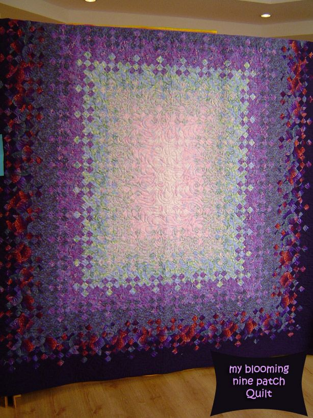 174 Best Blooming Nine Patch Quilts Images On Pinterest