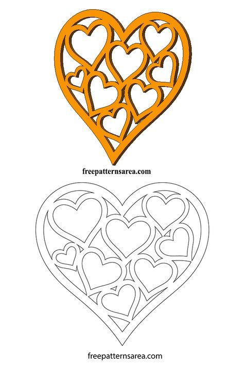 Heart Shaped Vector & Template for Valentines Day in 2018 | ART ...