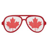Canadian maple leaf flag party shades   Canada Day