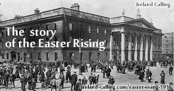 GPO Ruins 1916. The Story of the Easter Rising. Image Ireland Calling