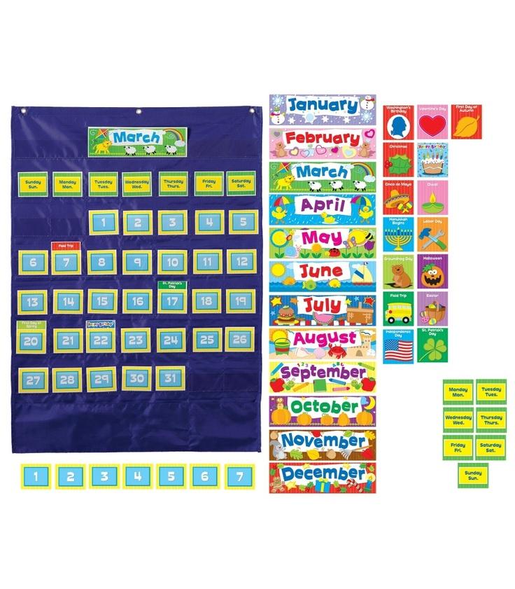 Calendar Pocket Chart Kindergarten : Ideas about pocket charts on pinterest