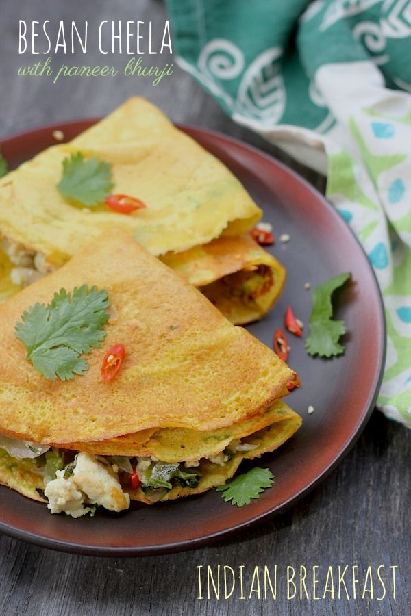 If you are from the South of Vindhyas, cheela / chila is not a much heard of term. It is a staple North Indian breakfast dish. To put it in simple terms, it is like an instant dosa made using besan. However unlike adai, which is a lentil based dosa preparation, cheelas are much thinner and crepe lik