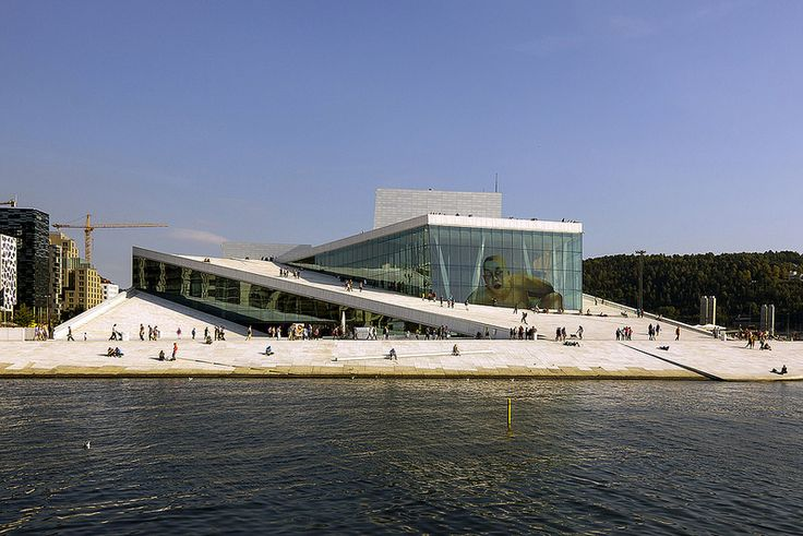Oslo Opera House designed by Snøhetta. Bjørvika, Norway.