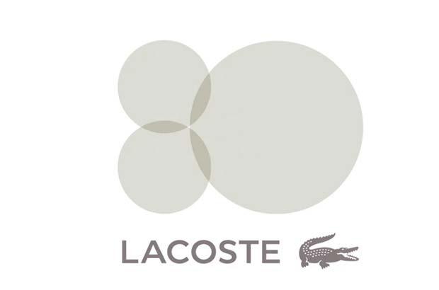 Lacoste logo 80 aniversario Peter Saville
