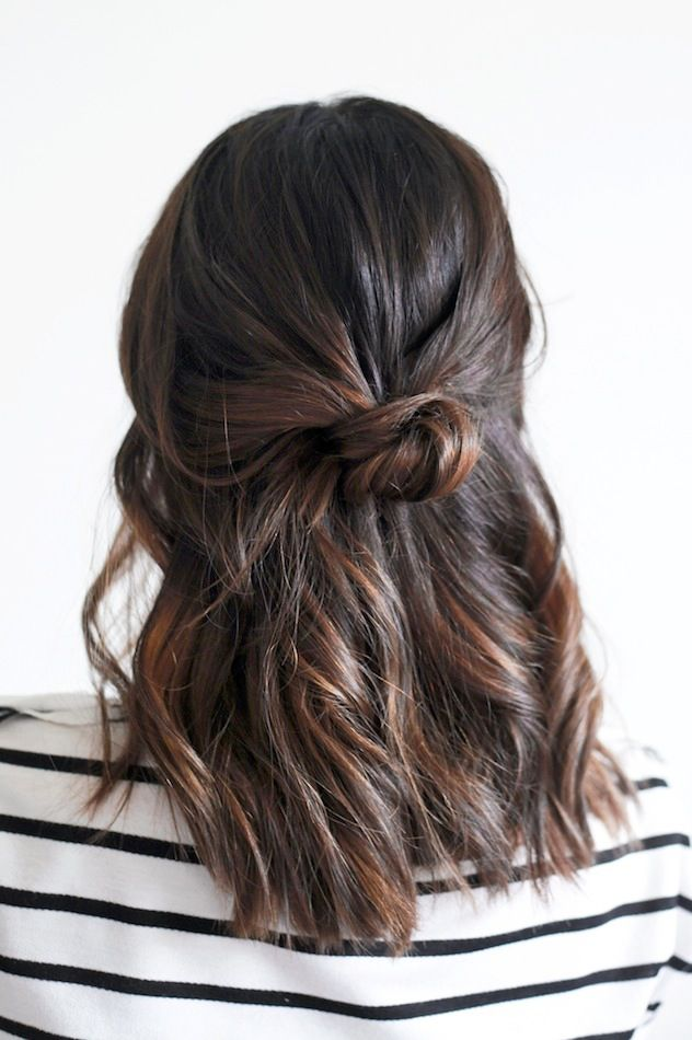 Hair Inspiration: The Loose Half-Up Top Knot.