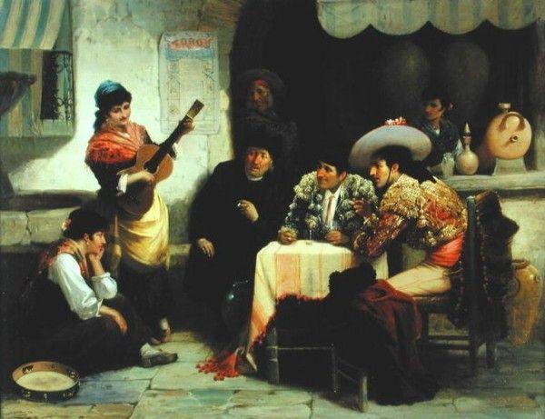 Kemm, Robert (1837-1895) - In a Spanish tavern