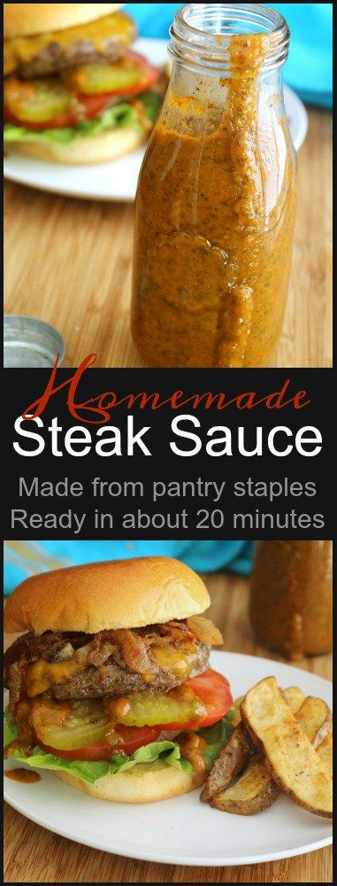 What better condiment for fresh grilled meats than a tangy Homemade Steak Sauce? It's good on burgers, steaks, and even pork chops! It's an all around great sauce for nearly anything cooked on the grill.