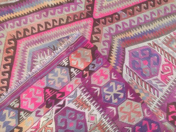 Turkish Kilim rug Bohemian Rug vintage rug by RugStoreDesigns