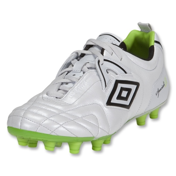 Umbro Speciali Pro HG Soccer Shoes (PEARLIZED WHITE/BLACK/LIME)