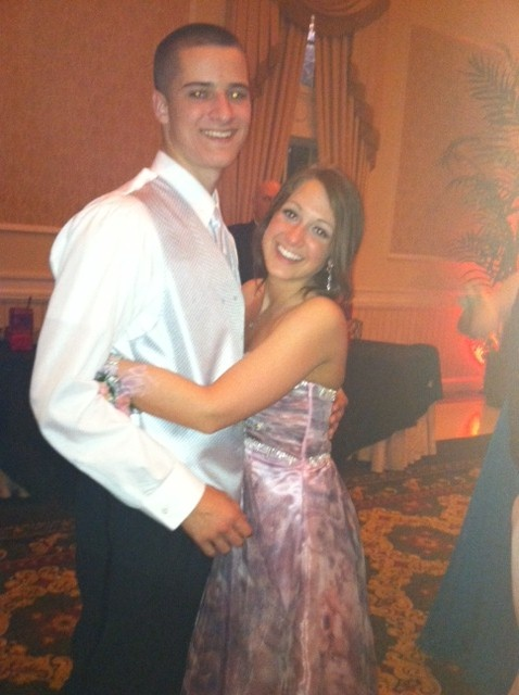 Michael Tompkins and Brooke Olander at Spring-Ford Area High School Prom.