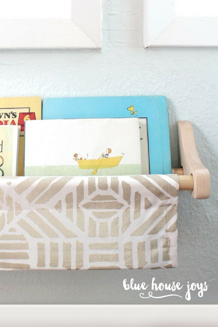 High Quality A Stylish And Inexpensive Book Sling To Store Your Kidsu0027 Books. Hang This Up Nice Design