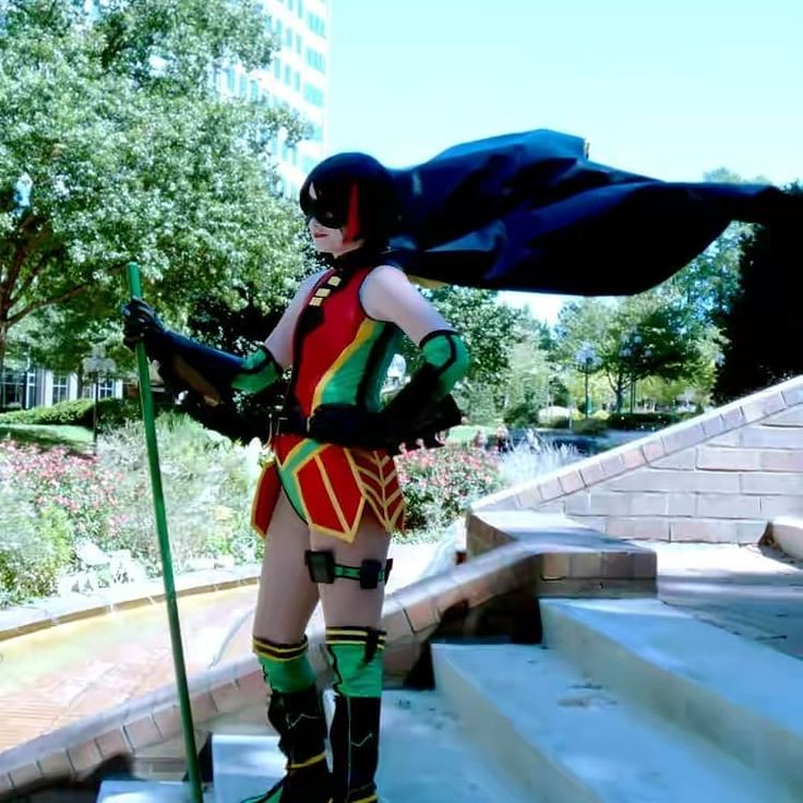 A little #tbt to my Ame-Comi Robin.  It was my first time I had hand drafted a pattern of course it was freaking spandex.  I want to be able to wear it again but I've gained weight. :| Guess that means I gotta get my shit in order and drop this extra baggage.  #amecomi #batfamily #dccomics #cosplay #dccomicscosplay #animeweekendatlanta #throwbackthursday