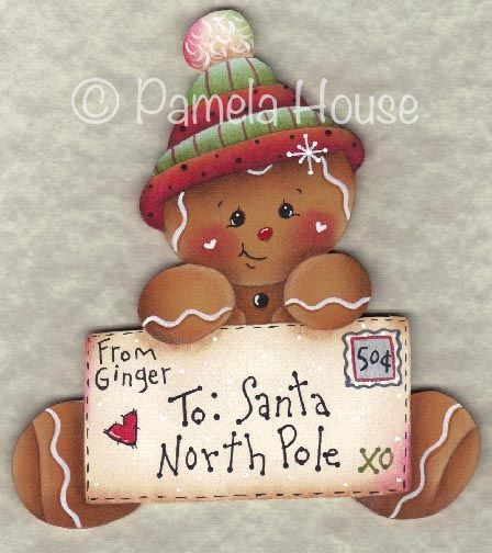 The Decorative Painting Store: Letter to Santa Gingerbread Ornament Blank, Surfaces for Pamela House Patterns