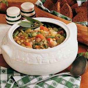 Mulligan Stew Recipe -This hearty stew is packed with a colorful combination of vegetables and tender pieces of beef.