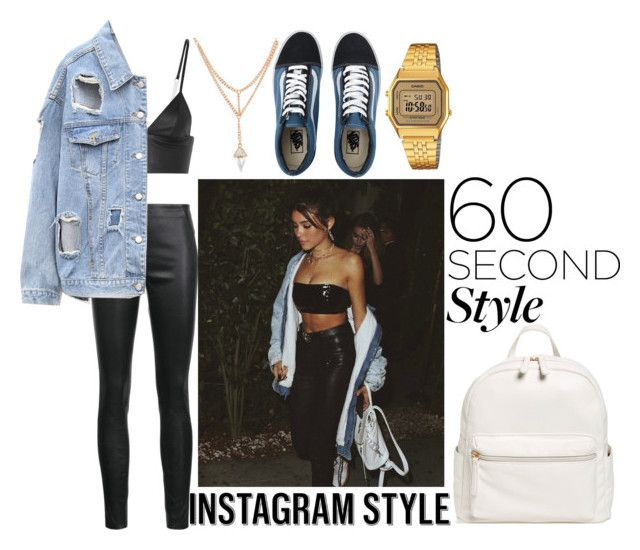 """""""MADISON BEER STYLE pt.2"""" by kristinacason ❤ liked on Polyvore featuring T By Alexander Wang, Veronica Beard, Vans, BP., Casio, 60secondstyle and PVShareYourStyle"""