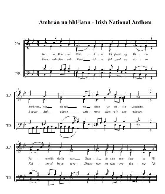 Learn irish national anthem lyrics