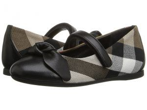 Burberry Kids Yaxley (Toddler) (Black) Girl's Shoes
