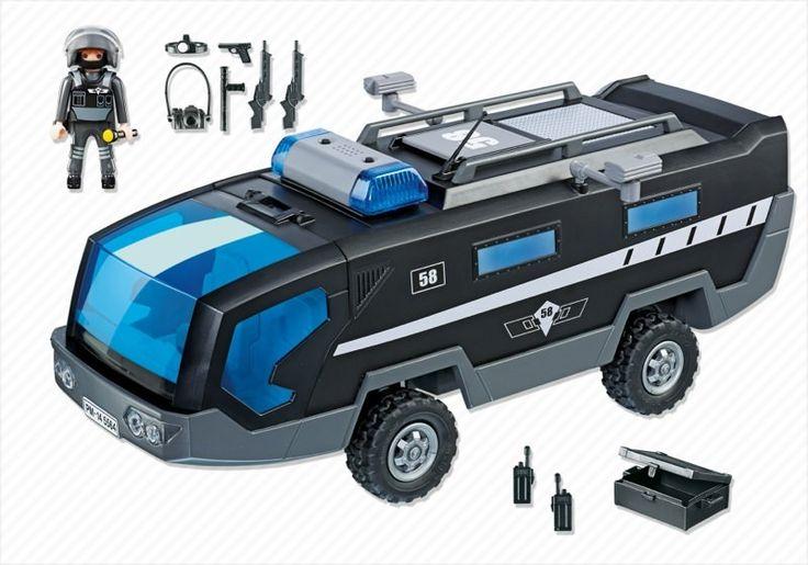 Playmobil 5564 - SEK-Einsatztruck mit Licht und Sound - Back