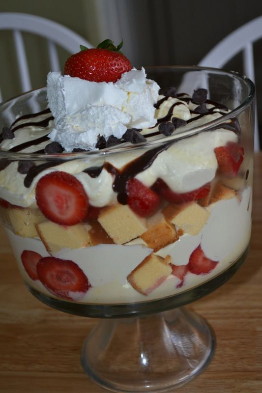 Mamas Like Me: Strawberry Cheescake Trifle Bowl