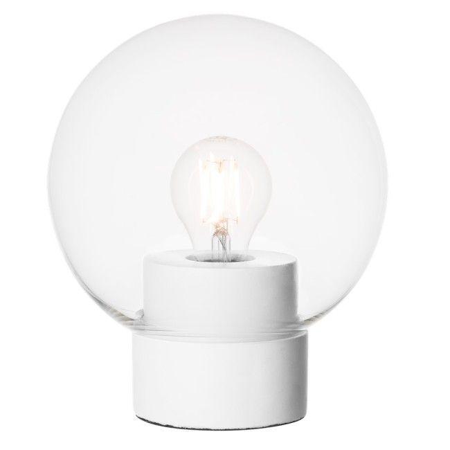 Bordslampa Rund Vit/Klar