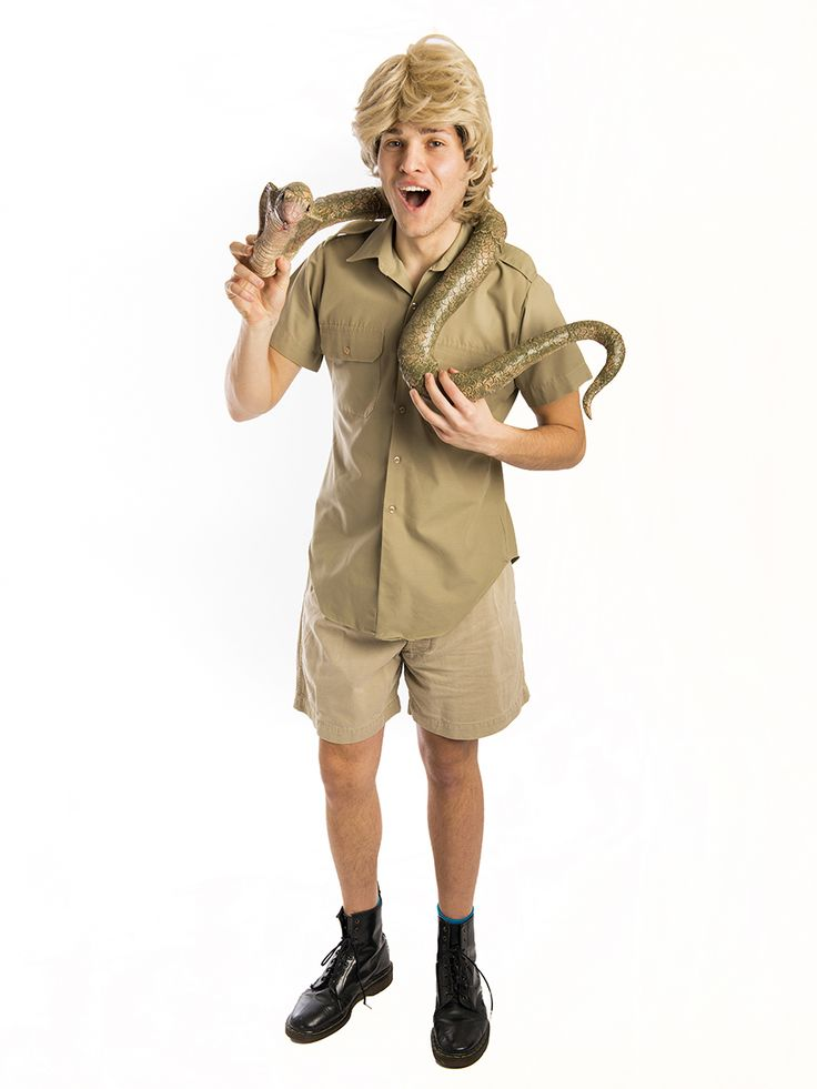 By Crikey Mate watch out for the snake in this fun Steve Irwin costume for hire. Ideal for an Australian or Celebrity themed party. Cos