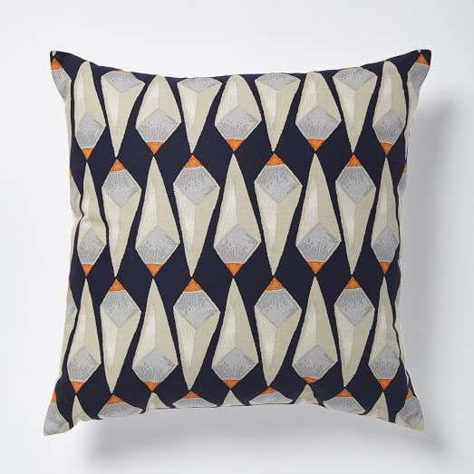 Patch NYC Crystals Pillow - Vibrant Orange | West Elm