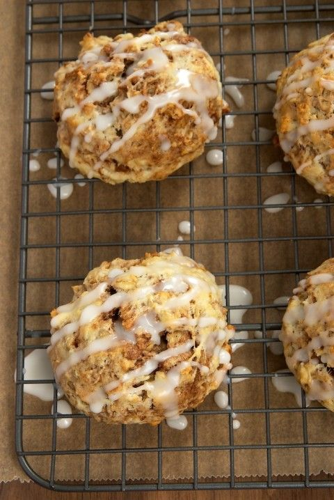 Simple to make and a pleasure to eat, Cinnamon Bun Scones are a fabulous sweet, cinnamon-y treat.