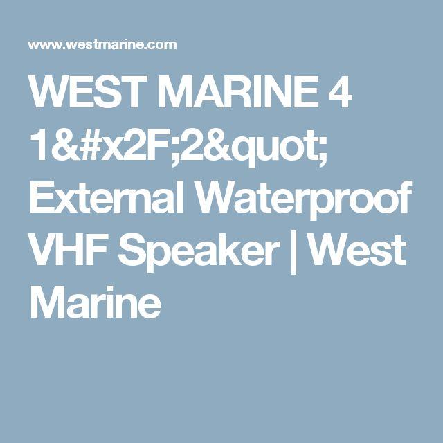 """WEST MARINE 4 1/2"""" External Waterproof VHF Speaker   West Marine"""