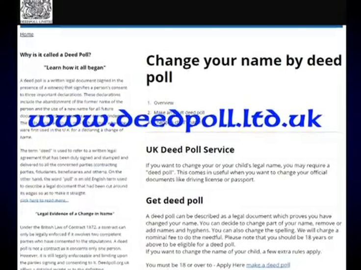 Officially change your legal name by Deed Poll, Change Child's Name, change your legal name by Deed Poll, Change your first name or last name by using our UK Deed Poll services   http://deedpoll.ltd.uk/legal-evidence-of-a-change-in-name/ or  https://www.facebook.com/pages/Change-your-name-by-deed-poll/1617252885211036