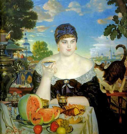 La mercantessa al tè / Купчиха за чаем