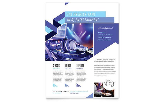 7 Best Ddj Flyer Images On Pinterest Brochure Template Brochures