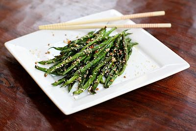 sesame garlic green beans - I'm planning on growing plenty of beans this year so I need all the recipes I can get :)