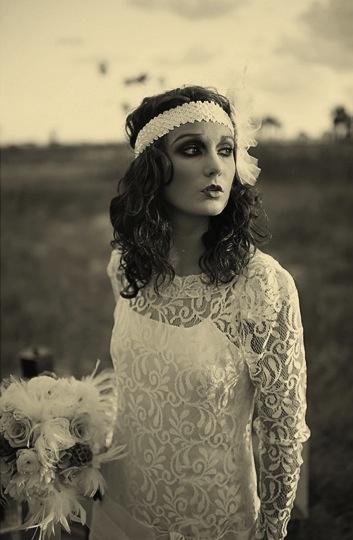 Vintage Beach Wedding || Flapper Bride