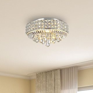 Jolie Chrome 4-light Crystal Flush Mount Chandelier - 17472021 - Overstock - Big Discounts on The Lighting Store Flush Mounts - Mobile