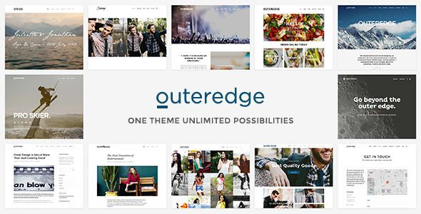 Outeredge - Responsive Multi-Purpose Theme  #themeforest