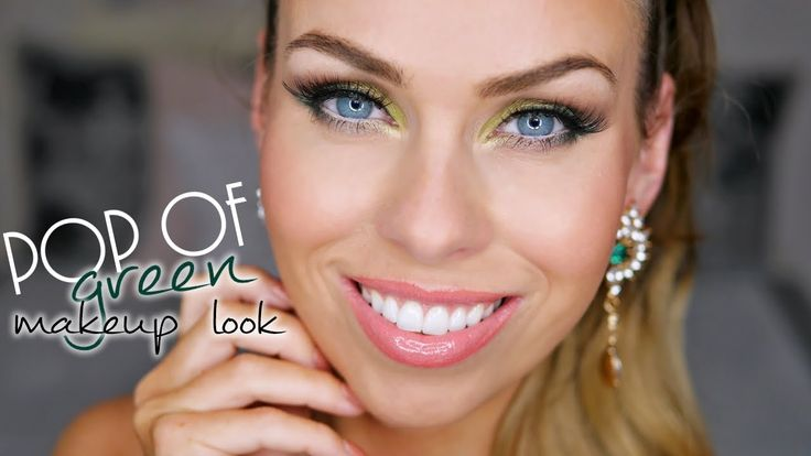 Zelené oči tutorial | Pop of green makeup look