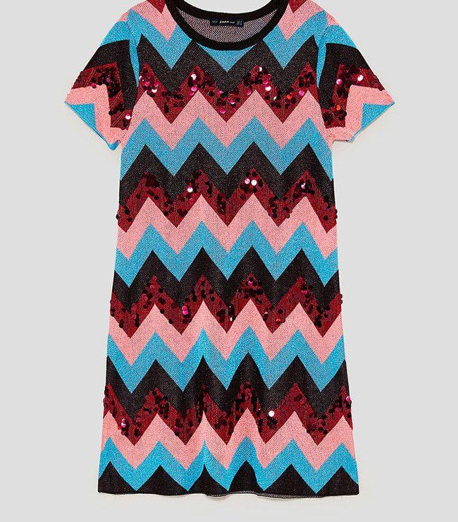 Vestido rayas en zig zag | Zara | Cosas para ponerme