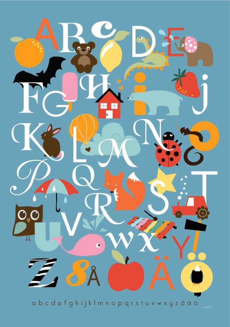 Alfabet   ABC-plansch                                       av Anna Boye