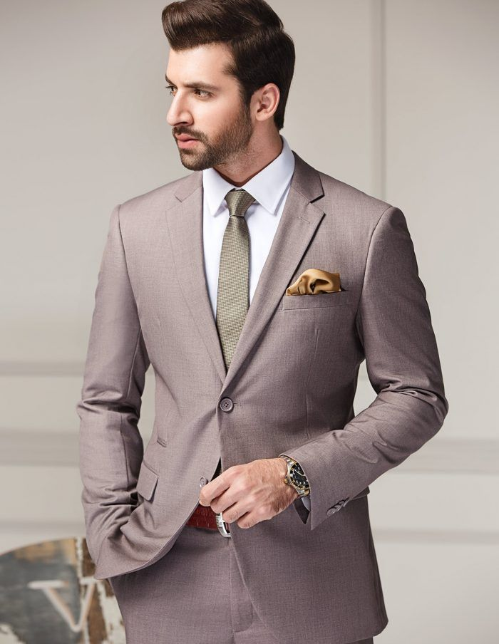 Prodcut Image Raymond Suit Pink Fabric Slim Fit Suits