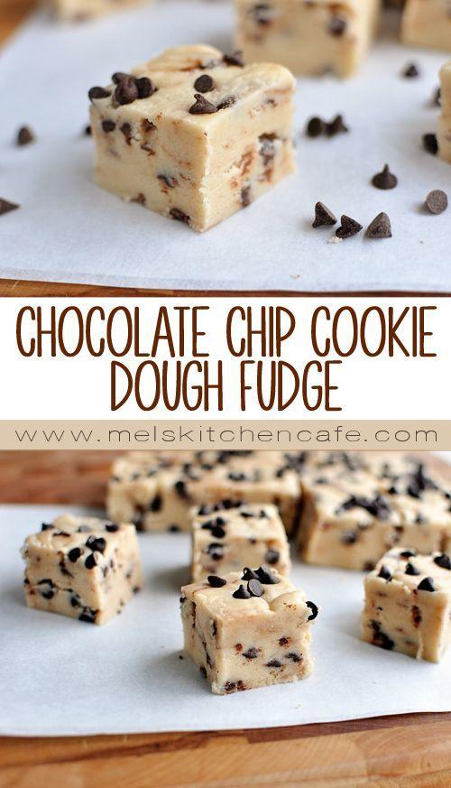 Chocolate Chip Cookie Dough Fudge   Mel's Kitchen Cafe