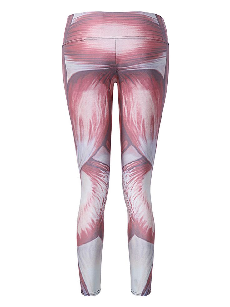 Women Muscle Printed Stretch Sport Pants