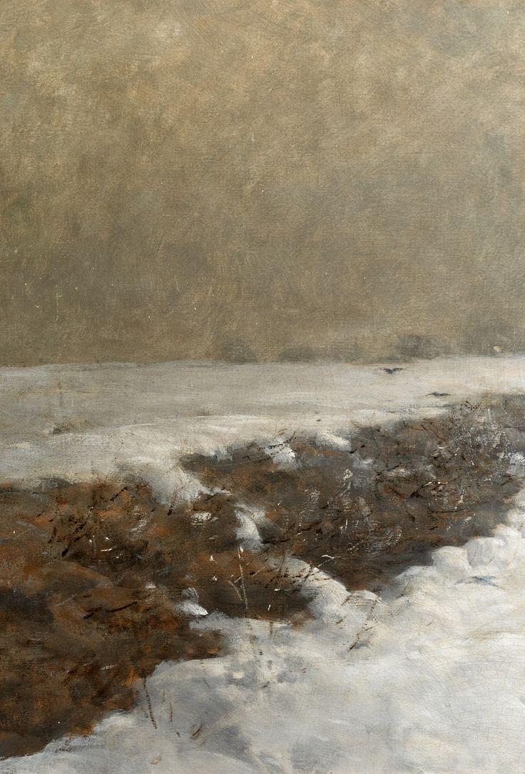 Mednyánszky Ladislav / László : Zimný potok  ( Súmrak)