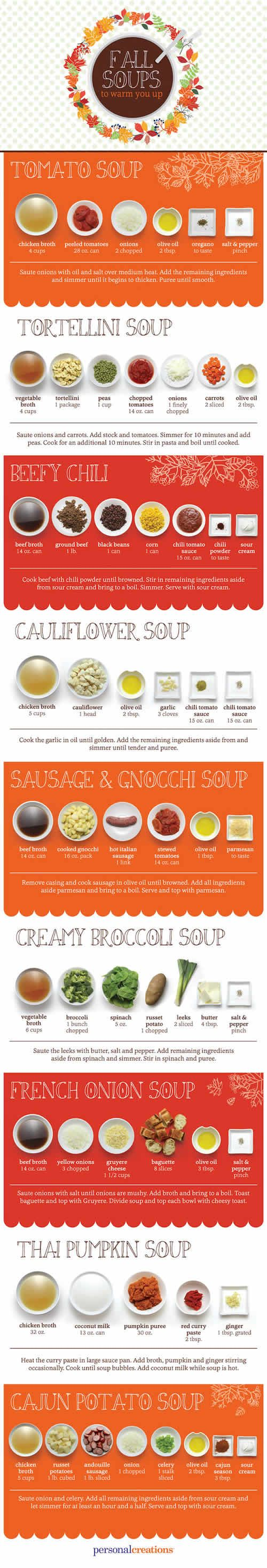 Fall Soup Recipes Infographic