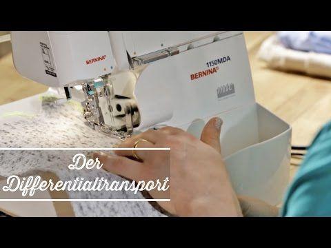 ▶ Overlock: Nähen mit dem Differentialtransport - YouTube