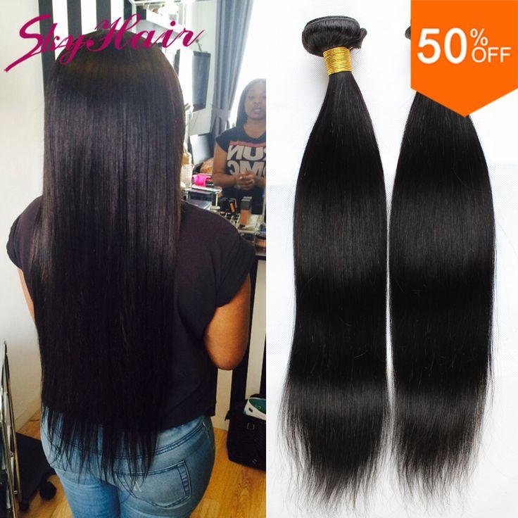 ブラジルのバージン毛ストレート4ピース/ロットローザ髪製品ブラジルストレートヘア織りウェブサイトオンラインかぎ針編みの毛延長