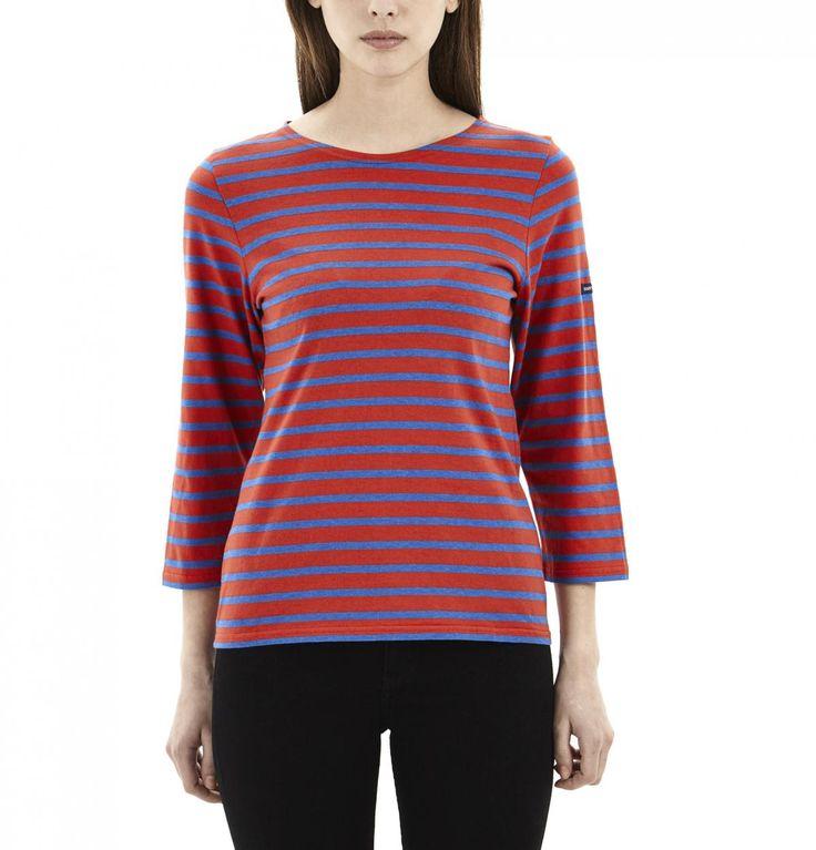 Red & Indigo Striped Shirt