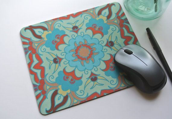 Marrakesh Moroccan Print Mouse Pad  by yourethatgirldesigns