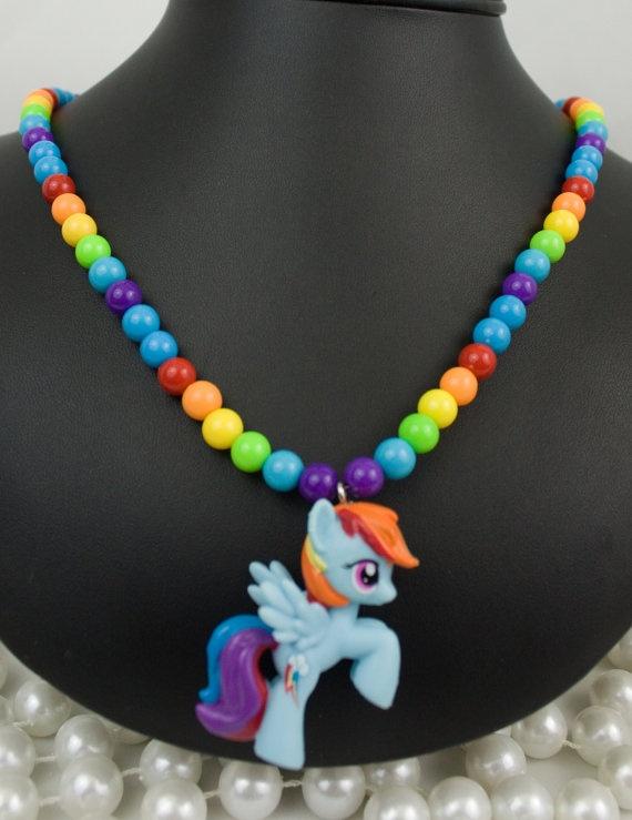 My Little Pony Friendship is Magic Necklace Rainbow by deastar, $20.00