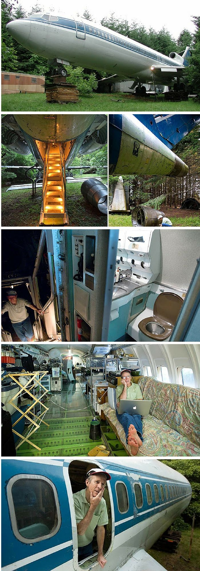 A 727 jetliner converted into a home in portland oregon alternative tiny homes pinterest - Container homes portland oregon ...